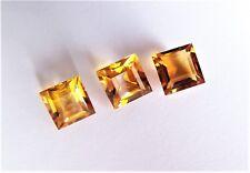 Citrin  Carree Quadrat  Princess  10 x 10 mm gelb orange