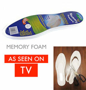 NEW MEMORY FOAM INSOLES 1 PAIR UNISEX ORTHOPAEDIC FOOT TRAINER SHOE COMFORT