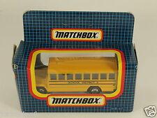 [OF3-78] MATCHBOX MB-47 SCHOOL BUS SCHULBUS AUTOBUS SCHOOL DISTRICT 2 1992 MIB