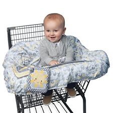 Cubierta Para Bebé Asiento Seguro Para Carritos De Supermercado Color Gris