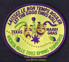 LMH Patch  2002 GOOD SAM CLUB SAMBOREE  Wichita Falls TX MARDI GRAS Spring Event