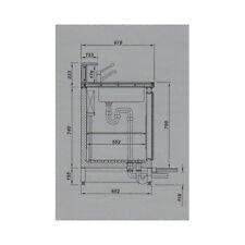 Banco bar frigorifero frigo bancone retrobanco cm 200x68x95-113 RS0167