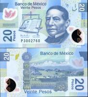 MEXICO 20 PESOS 2011 P 122 POLYMER SERIES Q UNC