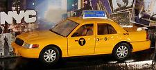 TAXI NEW YORK CITY 1:24 NYC cap modello di auto metallo FORD Crown Victoria ny73337