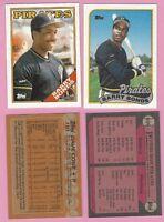 1989 BARRY BONDS   WRONG BACK PIRATES 1988 BARRY BONDS ERROR CARDS
