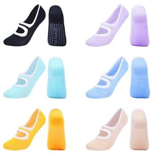 1Pair Women Yoga Socks Cotton Simple Non Slip Pilates Dance Gym Floor Socks