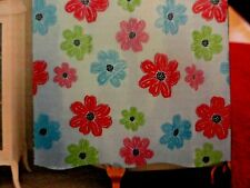 Red~Blue~Green~Pink Peva vinyl Bold Large Flowers Shower Curtain~eco friendly