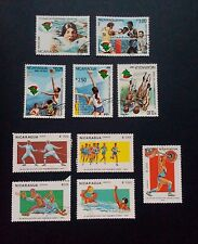 Nicaragua stamps - Central American/Pan American games stamps 1982 and 1983 x10