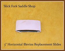 """3"""" Blevins Stirrup Leather Buckle -Horizontal Leather Covered Replacement Slide"""