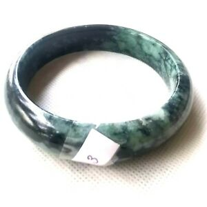66.3 mm Untreated Cute Green Natural Jade Jadeite Bangle Bracelet from Burma
