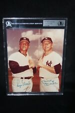 MICKEY MANTLE & ROGER MARIS AUTOGRAPHED 8X10 PHOTOGRAPH BECKETT AUTHENTICATED