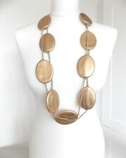 Chunky Gold Bead Long Statement Necklace -UK SELLER