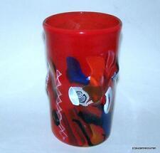 Vintage OGGETTI Red Murano Glass Hans Peter Neidhardt Seascape Vase