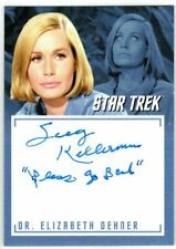 STAR TREK TOS CAPTAINS COLLECTION A14 SALLY KELLERMAN INSCRIPTION AUTOGRAPH V7