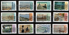 France 4386-97 Paintings depicting Water [2012] [12 USED Stamps]