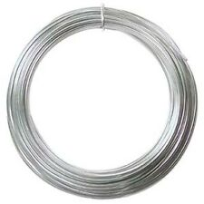 Anodized Aluminum Wire 12 Gauge 39 Feet Silver 41263 Round Shiny