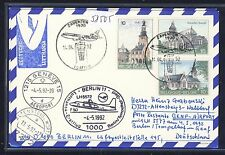 58505) LH FF Berlin - Genf Schweiz 4.5.92, Karte ab Belgien