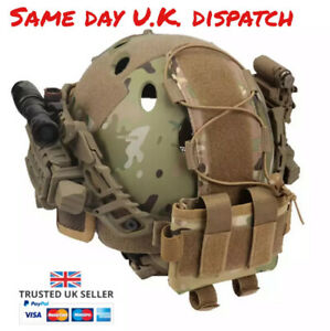 Airsoft Helmet Counterweight Pouch Hook & Loop Battery Storage Pouch Multicam