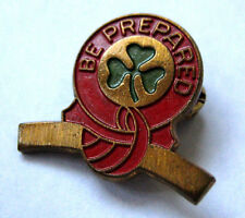 """Vintage 1947-1963 Girl Scout CURVED BAR AWARD PIN Highest Award """"Be Prepared"""""""
