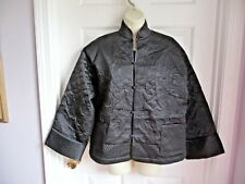 Victoria's Secret NEW Jacket Coat KIMONO Black 100% Silk One Size Quilted RARE