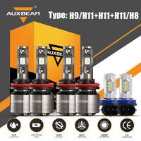 6PCS AUXBEAM H11 H9 H8 LED Headlight Fog Decoder Canbus for Toyota Tacoma 16-20