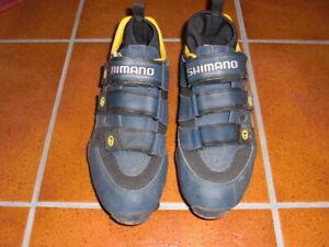 ***Shimano SH-M150 MTB-Schuhe mit SPD-Platten Gr. 44 blau-schwarz wie Neu***