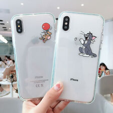 Color edge Tom and Jerry Clear Phone Case Cover For iPhone X 7 8 Plus XR Xs Max