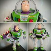 RARE Buzz Lightyear Interactive Moving Talking Toy Story Action Figure Thinkway