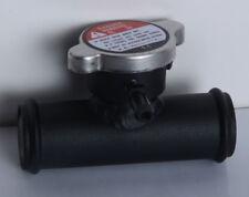 """32mm In Line Radiator Hose Filler Neck/Cap 1-1/4"""" Hose (32mm) Black"""