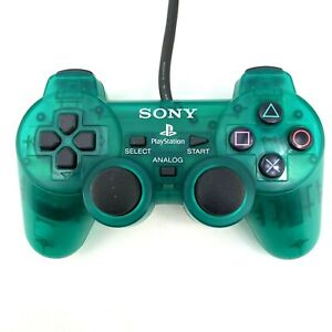 Sony Playstation 1 PS1 Controller OEM SCPH-1200 Clear Emerald Green Tested