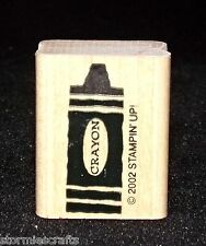 Stampin Up Elementary Days Stamp Single Crayon make it any Color Small Size