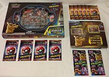 Detective Pikachu Greninja GX Case File 22 Pack Pokemon Lot + Rare Collector Pin