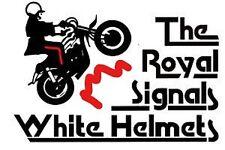 ROYAL SIGNALS WHITE HELMETS Transfers 6 x 8cm = 4 WATER TRANSFER CAR PRESENT
