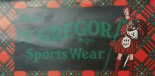 Vintage Original Package Box McGREGOR SPORTSWEAR Gift Box  and Label New York