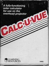 Calc-U-Vue Overhead Solar Calculator Cib (Ler50, Learning Resources)