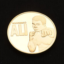 "Art Craft Gifts Boxing Champion ""MUHAMMAD ALI"" Gold Medal Commemorative Coins UK"