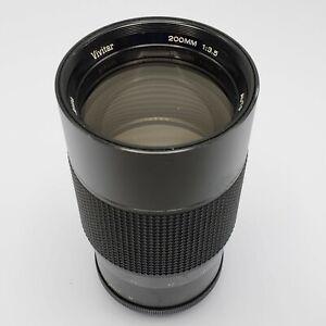 Vivitar 200mm F3.5 Telephoto Prime Lens for Pentax M42 Screw Mount SLR Cameras