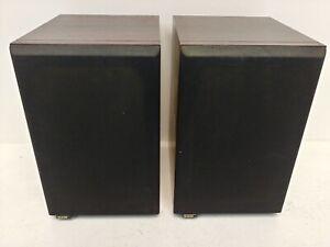 Pair B&W DM12 Bookshelf Stereo Monitor Speakers Rosewood  F23