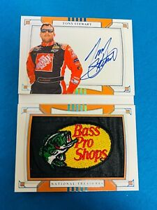 2020 National Treasures BASS PRO Auto Booklet of Tony Stewart 1/1 Autograph 🔥