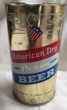 American Dry Extra Premium Lager Beer 12 oz Flat Top or Tab Beer Can