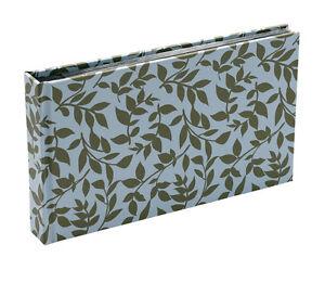 10x Hardback Blue Leaf 15 Sheets 30 Photos Slip In Photo Album By Katz 0704BN-PA