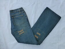 WOMENS TRF JEANS USED BOOTCUT JEANS PATCHWORK/DISTRESSED SIZE 8x32 #W1026