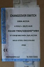 KRAUS & NAIMER CHANGEOVER SWITCH 100 AMP 4POLE KG100 T904/GBA040 *MB4