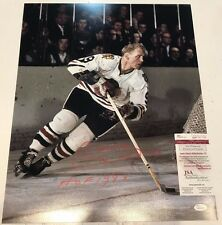 BOBBY HULL AUTOGRAPHED SIGNED INSCRIBED CHICAGO BLACKHAWKS 16x20 PHOTO JSA COA
