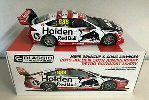 2019 WHINCUP LOWNDES #888 HOLDEN 50th ANN BATHURST LIVERY 1:18 SCALE MODEL CAR