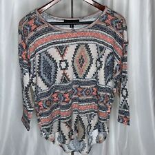 New listing Almost Famous Aztec Print 3/4 Sleeve Top - Size Xl