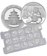 2017 China 10 Yuan 30g Silver Panda - Sheet of 15 (Mint Caps) SKU43870