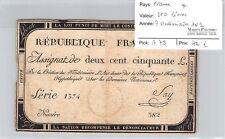BILLET FRANCE - ASSIGNAT - 250 LIVRES - 7 VENDEMIAIRE AN 2 *