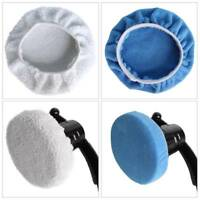 "2PCS Microfiber Car Polishing Waxing Polisher Bonnet Buffing Pad Cover 5-10"" NEW"
