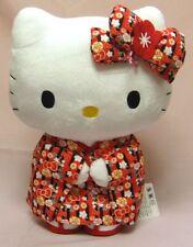 Sanrio Hello Kitty x Kawaii JAPAN Plush Doll Kimono Red 11.8inch